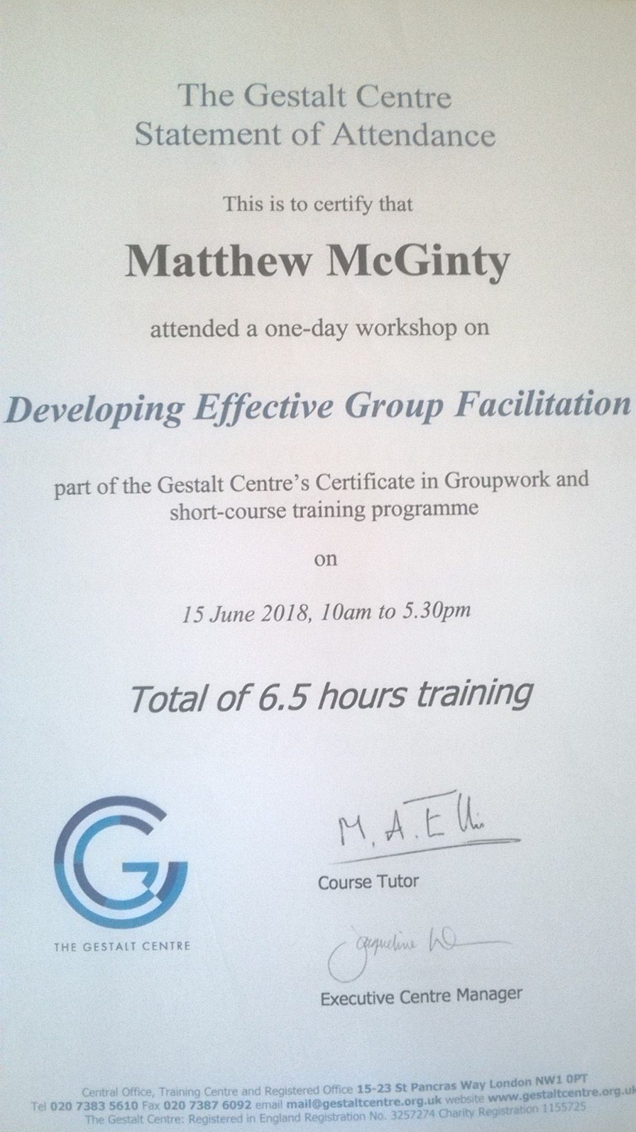 Effective Group Facilitation Certificate